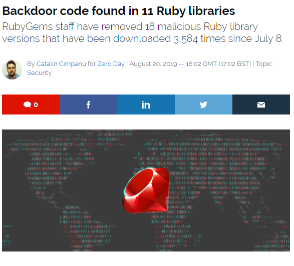 ZDNet Ruby compromised