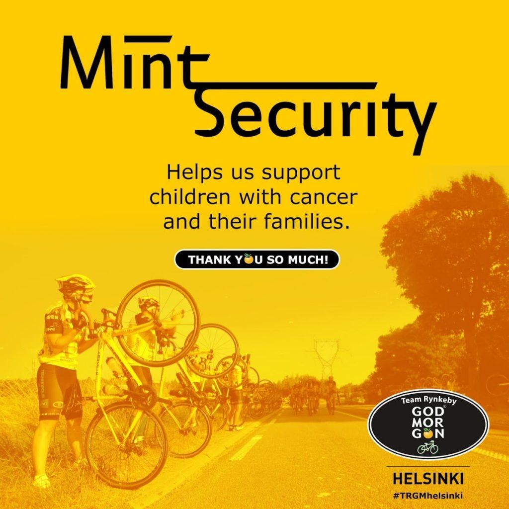Mint Security sponsoroi Rynkeby Godmorgon pyöräilyjoukkuetta
