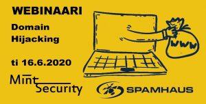 16.6.2020 Domain Hijacking Webinar Spamhaus