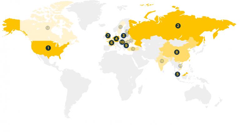 Spamhaus - Botnets Map