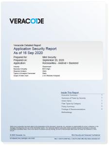 Veracode Koronavilkku report 16.9.2020