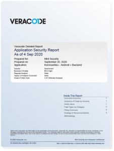 Veracode Koronavilkku report 4.9.2020