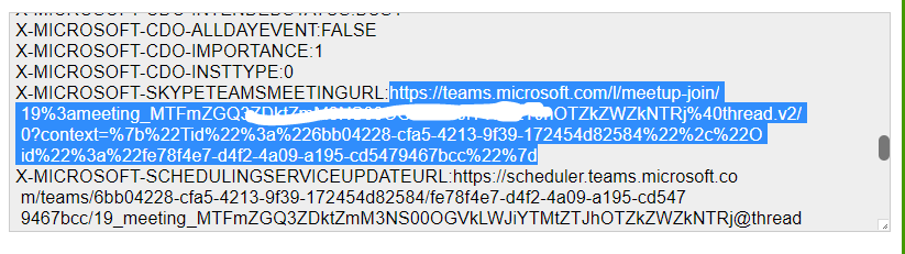 Microsoft Teams - linkki purettuna