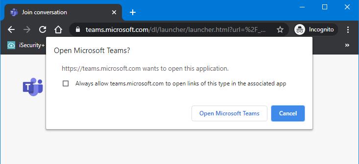 Microsoft Teams - vihdoinkin linkki